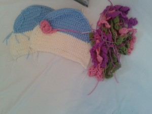 components for roses and posies tea cosy designed by Nicki Trench