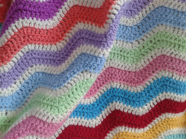 crocet ripple blanket