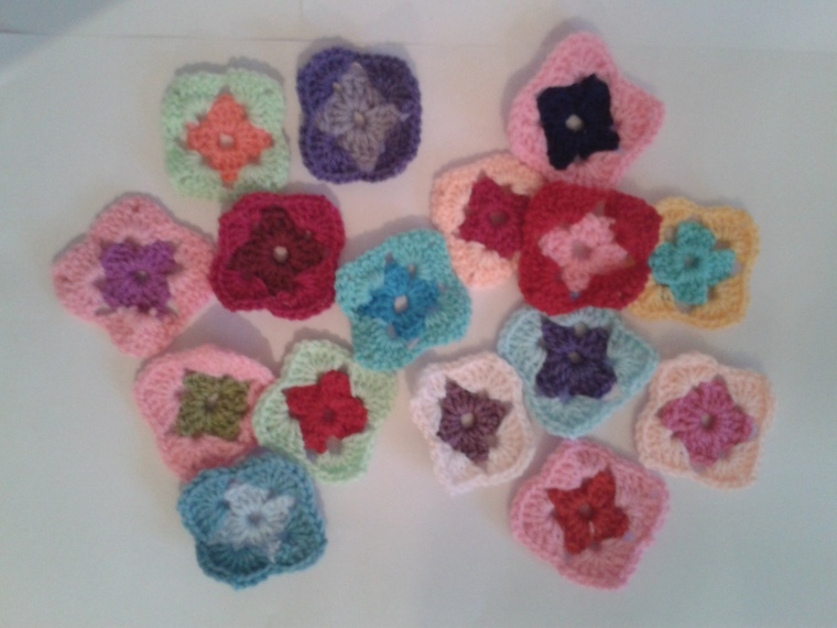 mini squares made from scraps