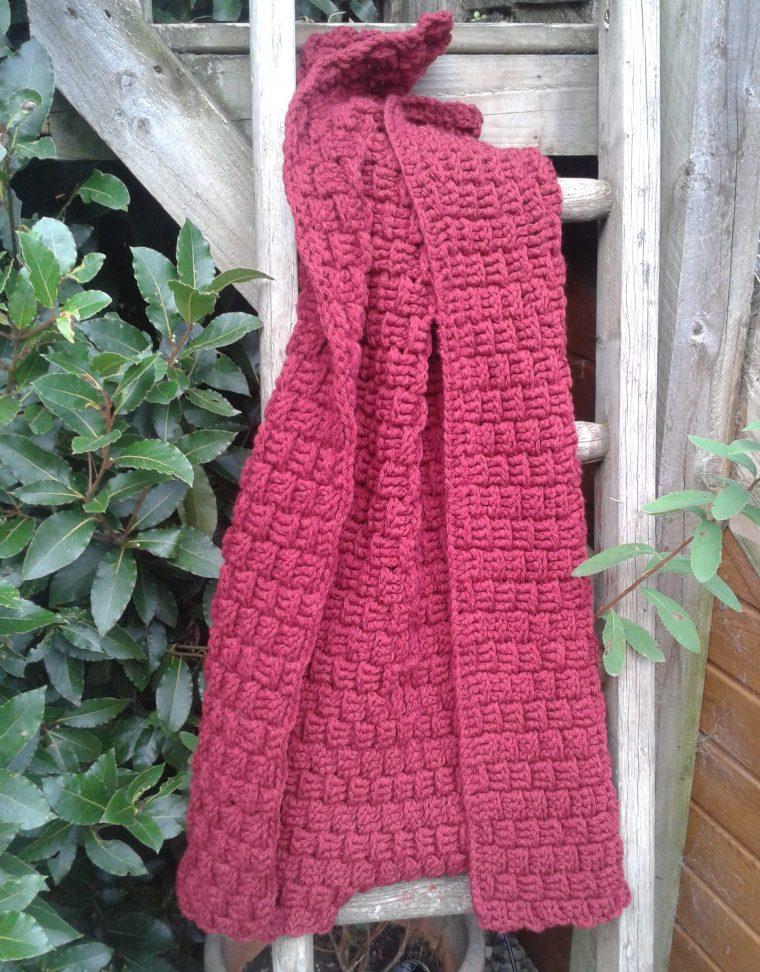 crochet blanket, basket weave