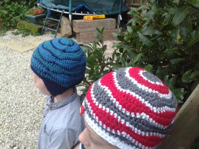 brain wave beanies for the boys...