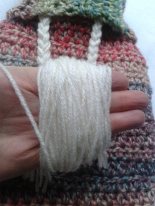 wrap yarn around your hand