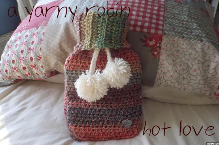 Hot love waterbottle cover