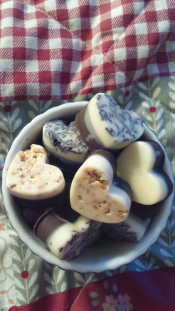 home made chocolate hearts