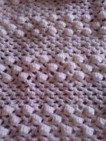 crochet baby blanket, popcorn stitch