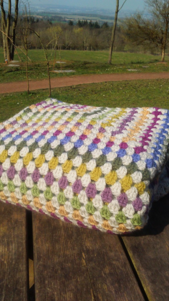crochet blanket, traditional giant granny square