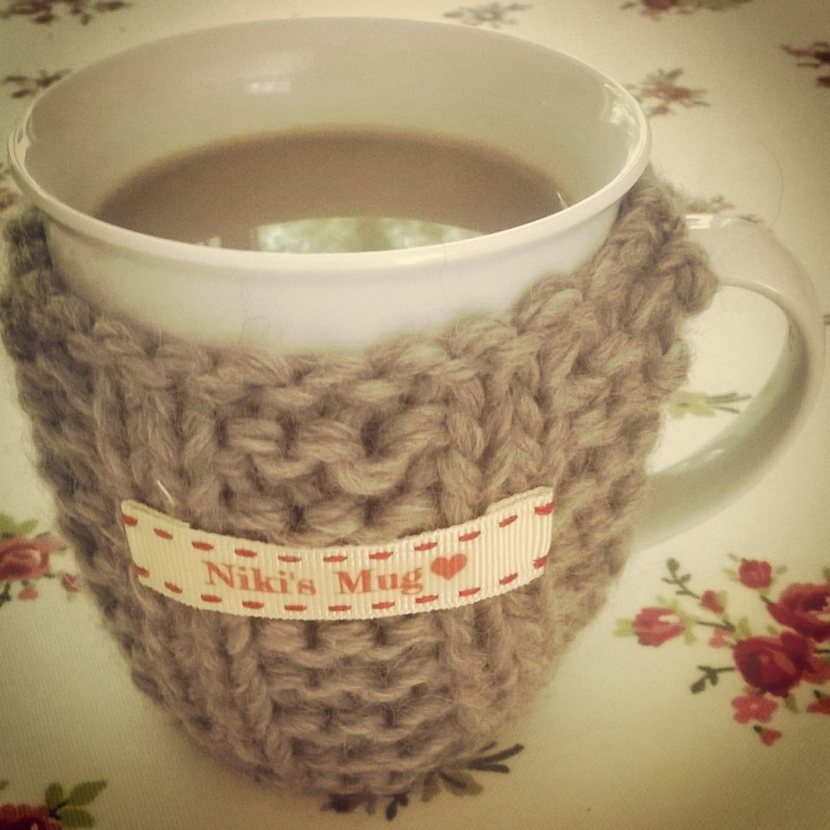 drinking coffee from my special mug