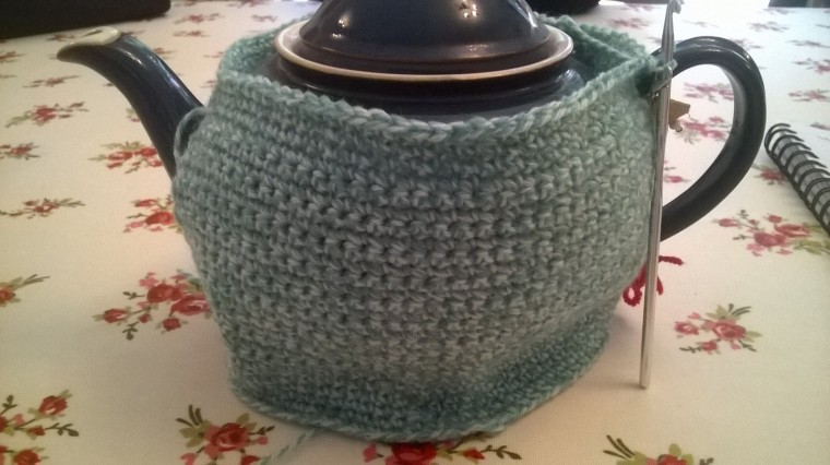 working on a new tea cosy pattern