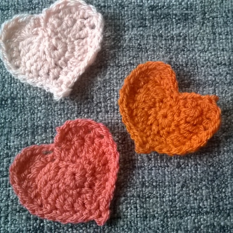 crochet hearts free pattern