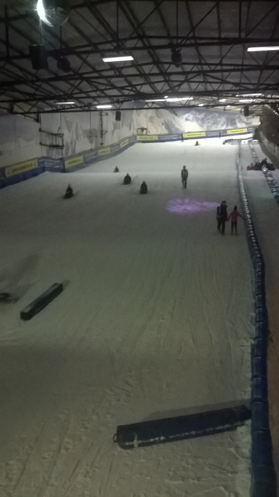 taboggoning at the snowdome was pretty awesome also...