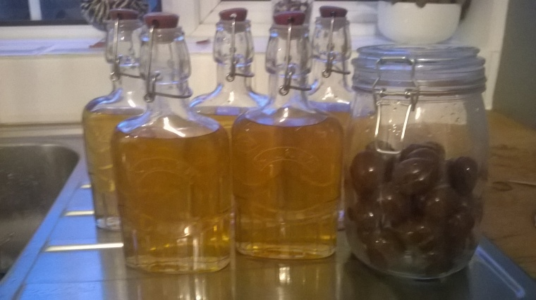 x5 lovely bottles of Damson Gin