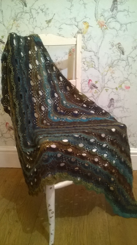 a perfect size shawl to snuggle with...