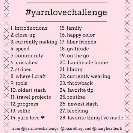 #yarnlove challenge 2017