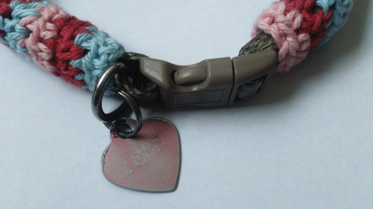 freedog collar crochet pattern...simple free pattern which you can crochet in under an hour