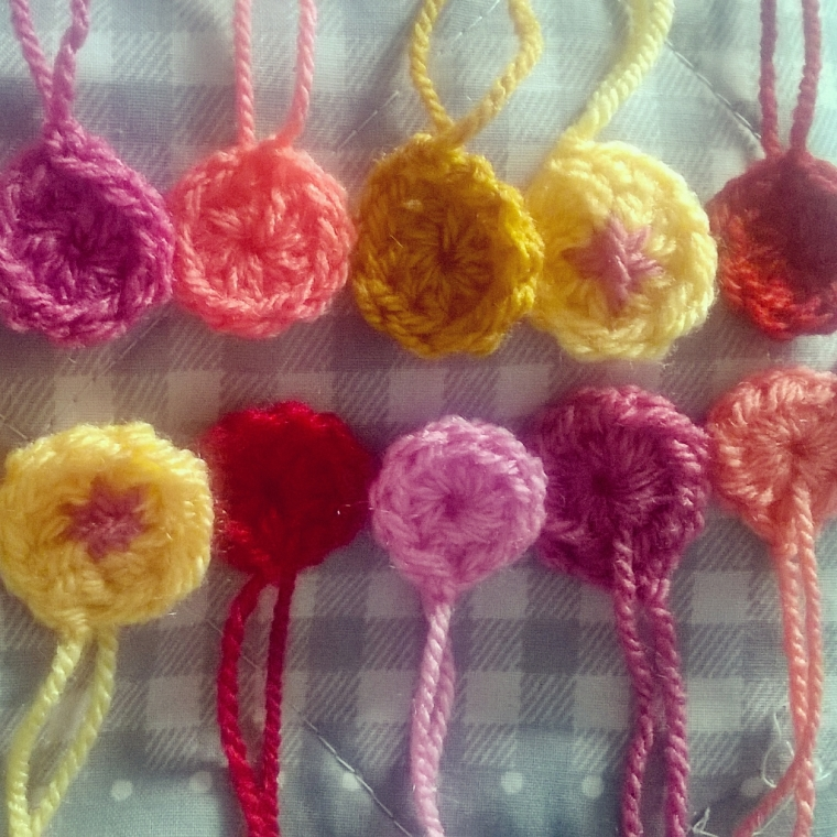 A dotty little crochet flower
