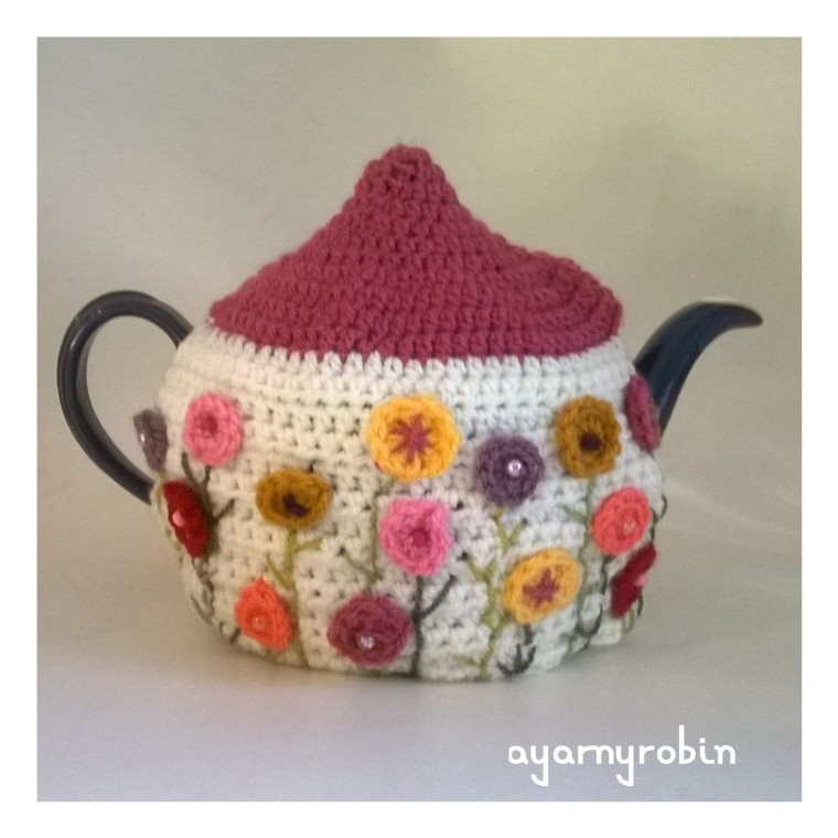 The Grandma Dot Tea Cosy, crochet tea cosy, The Grandma Collection by ayarnyrobin
