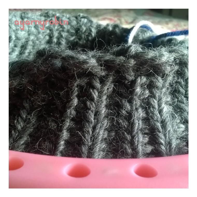 loom knitting beanie hat