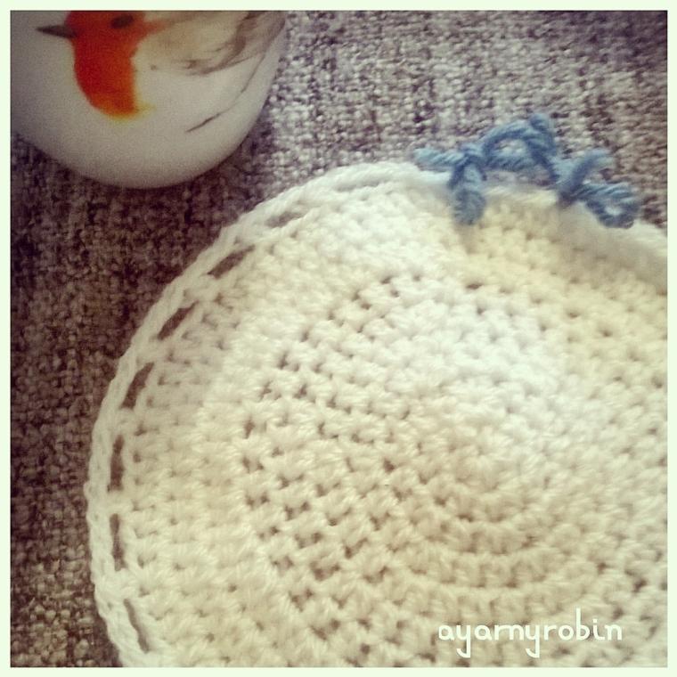 Grandma Florence tea cosy, photo tutorial free pattern