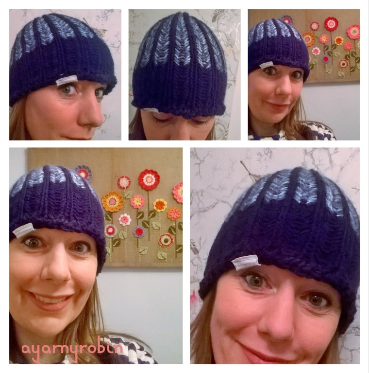 loom knitted hat, ayarnyrobin