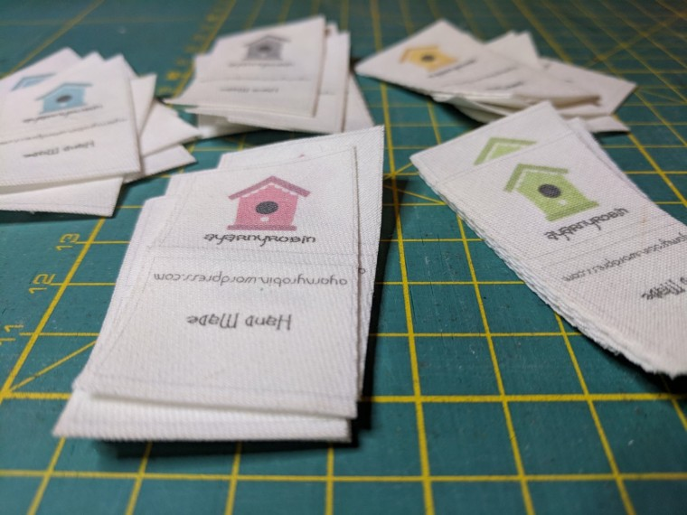 personalised organic cotton labels