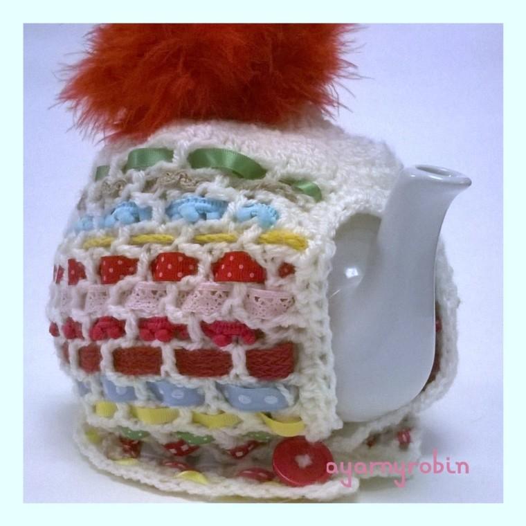 crochet tea cosy free pattern and tutorial