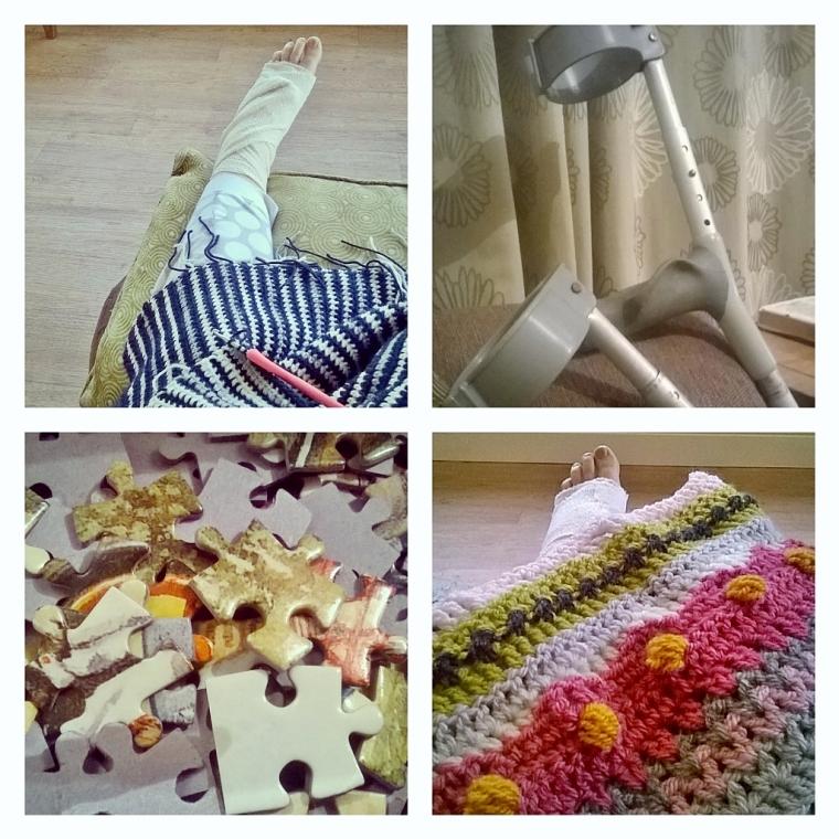 broken foot and crochet