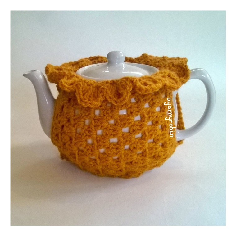 crochet tea cosy free pattern and tutorial