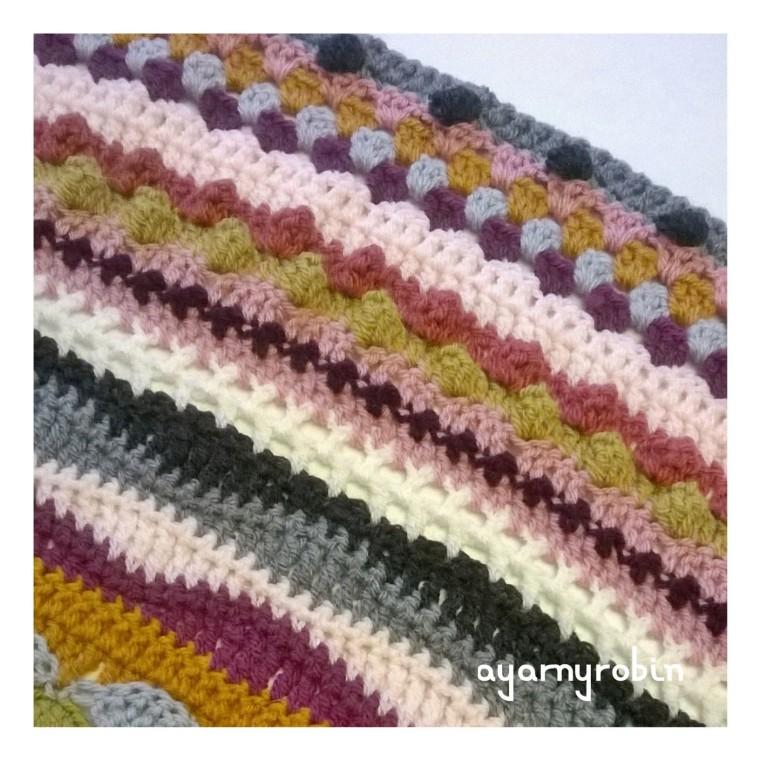 crochet mixed stitch blanket