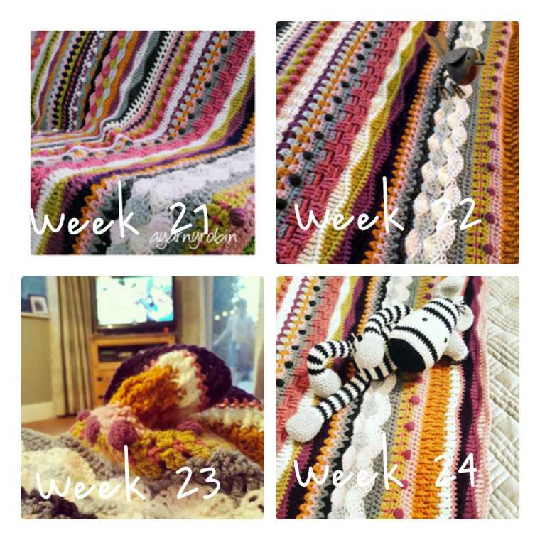 mixed stitch crochet blanket
