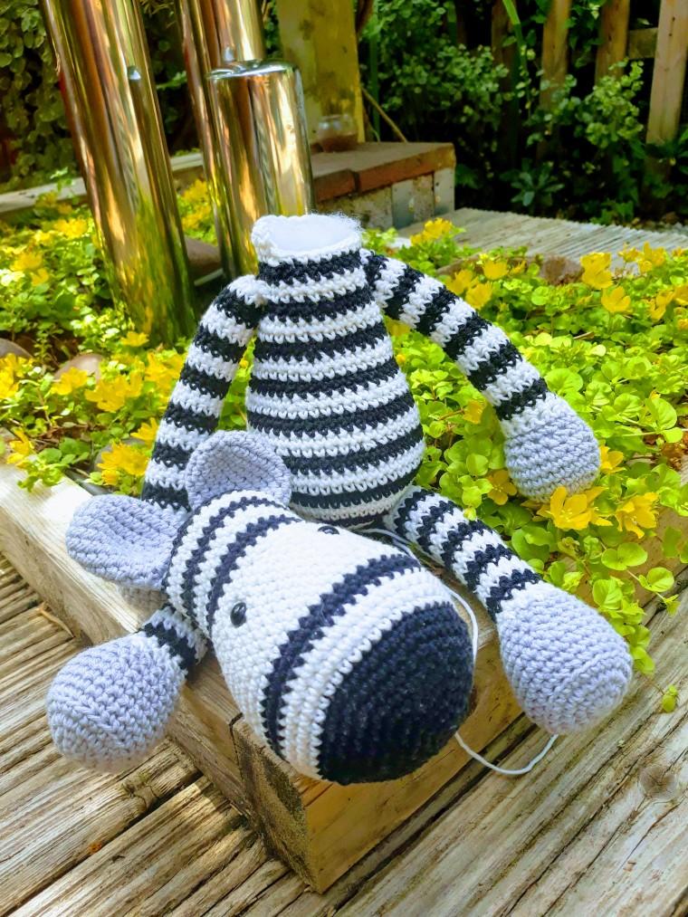 crochet zebra