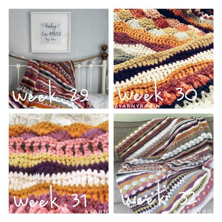 mixed stitch crochet blanket