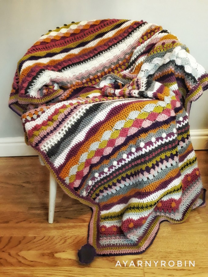 mixedstitch crochet blanket