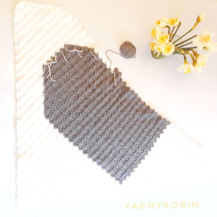 crochet corner tocorner baby blanket