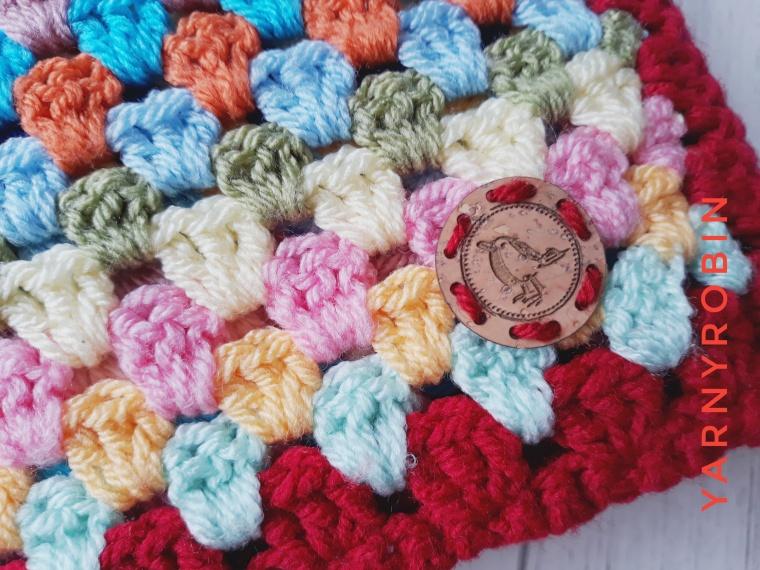 granny stripe baby blanket on etsy