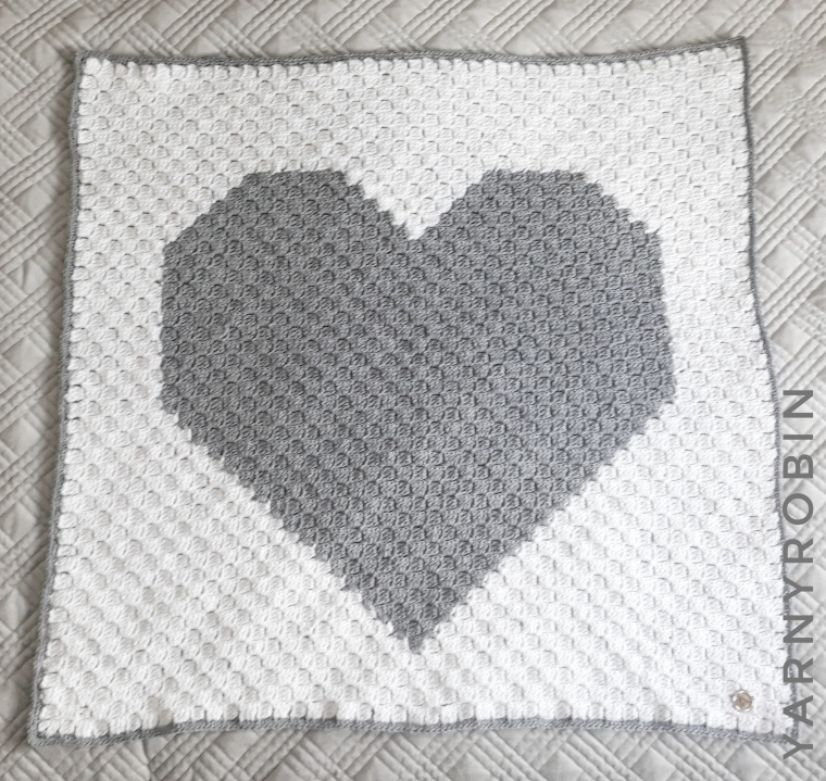 grey and white baby blanket