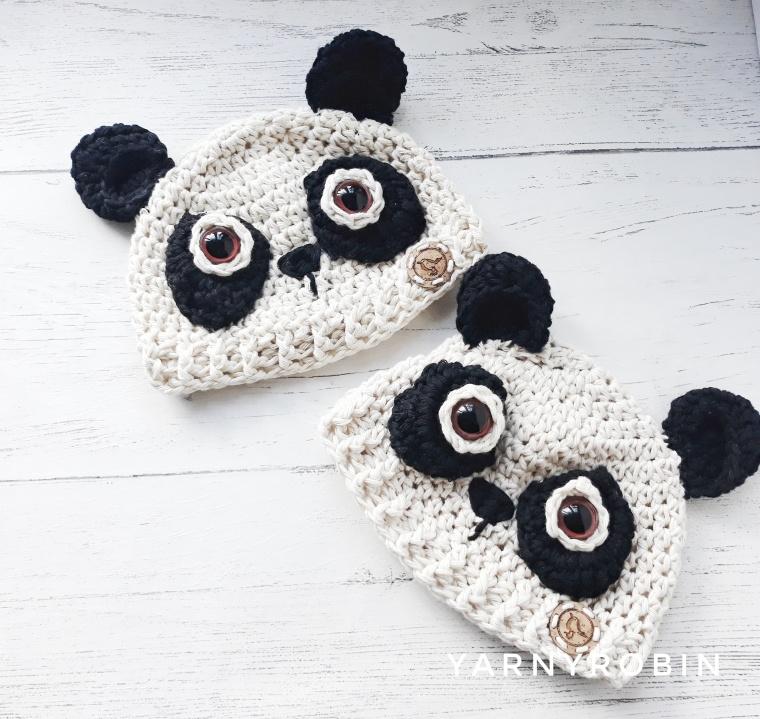 panda baby hats
