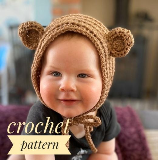 baby bonnet crochet pattern